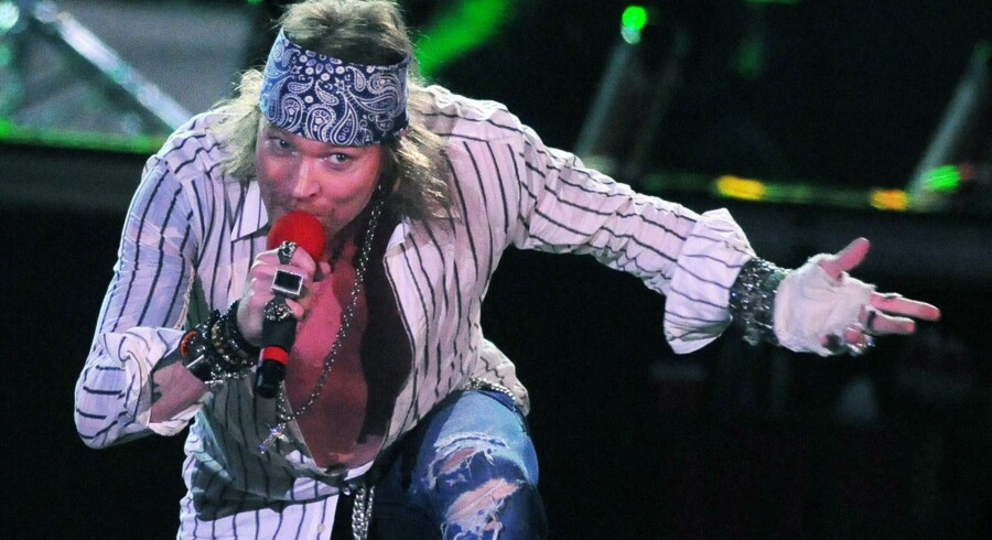 Guns N' Roses kommer til Aalborg i juni. Her er det forsanger Axl Rose.