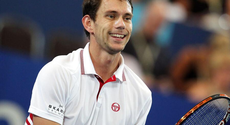 Frederik Løchte Nielsen besejrede sammen med holdkammeraterne på det danske Davis Cup-mandskab Luxembourg 5-0.