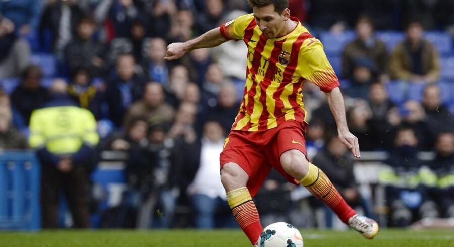Lionel Messi scorede på straffespark, da FC Barcelona vandt 1-0 over Espanyol.