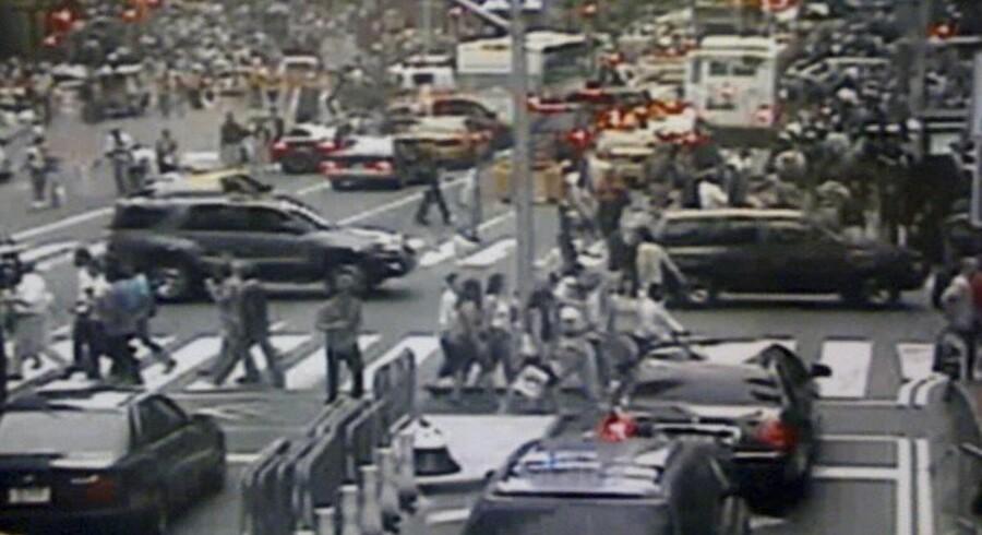 Et oveorvågningskamera fra Times Square viser en Nissan Pathfinder.