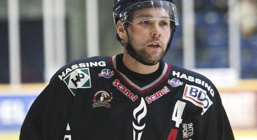 Den rutinerede vendelbo Christian Schioldan og resten af White Hawks-holdet havde grund til skuffelse efter nederlaget i kamp nr. 2 mod Herning Blue Fox.