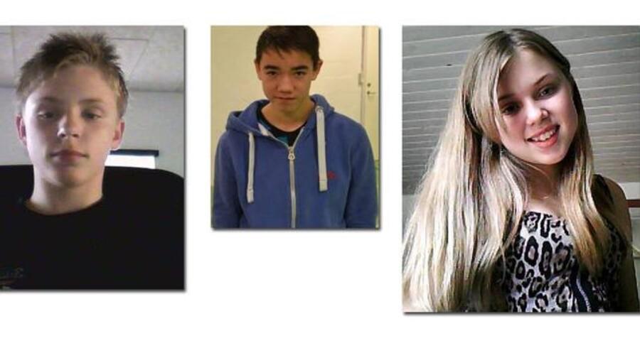 Tre teenagere er forsvundet på fjerde døgn. De stak af fra en institution natten til mandag og efterlyses nu af politiet.