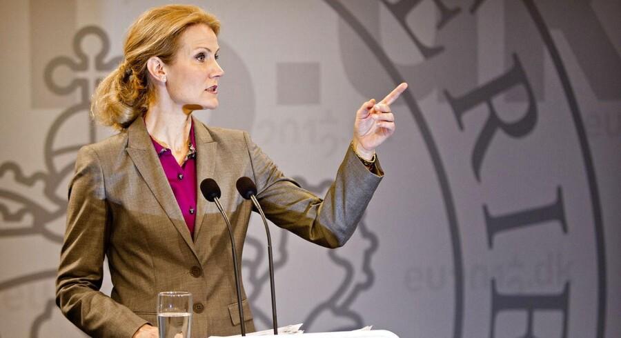 Statsminister Helle Thorning-Schmidt på sit ugentlige pressemøde i Statsministeriet tirsdag den 20. marts.