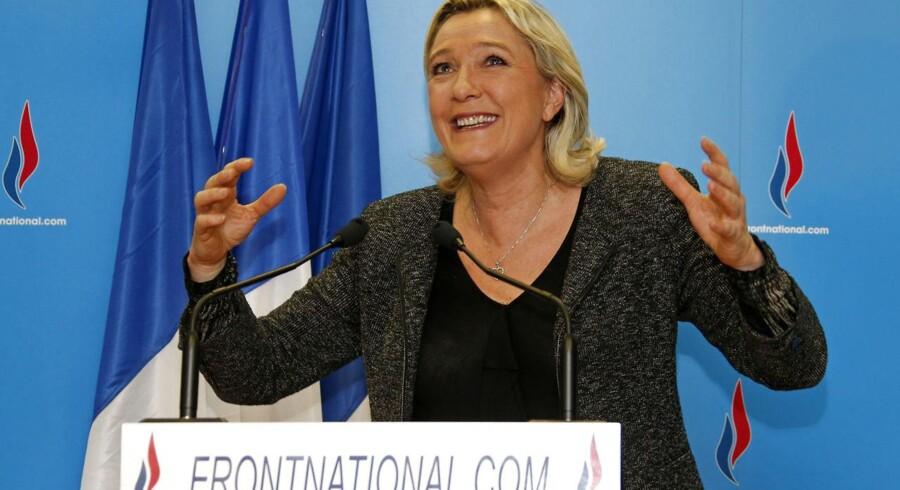 Marine Le Pen, leder af det franske, højrenationalistiske National Front og datter af partiets stifter, Jean-Marie Le Pen, efter den store fremgang ved de franske lokalvalg.