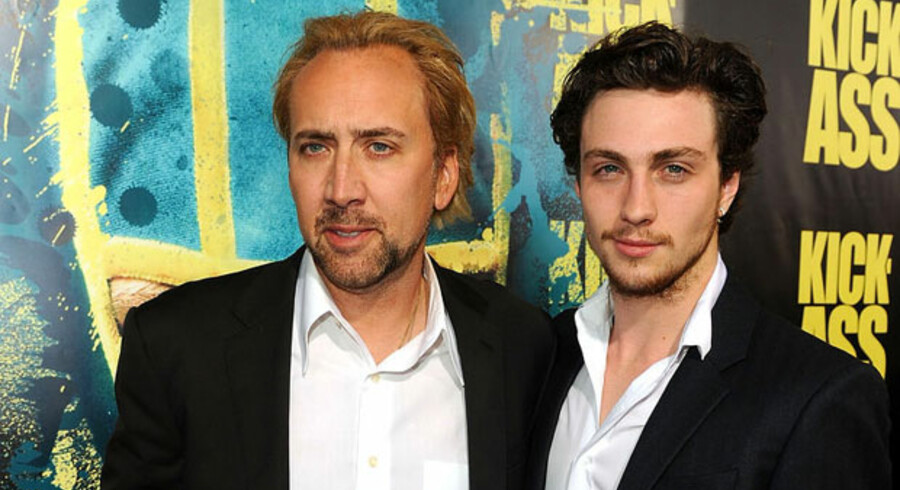 Aaron Johnson og Nicolas Cage