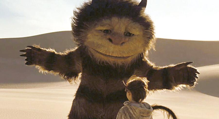 Der er mange troldelignende væsener i filmen »Where the Wild Things are«. Her løber otteårige Max hjemmefra efter at have fået skældud af sin mor og pludselig befinder sig i et fantasilandskab.