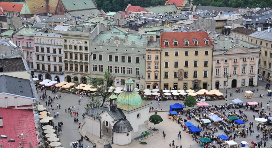 Panorama of Cracow city center