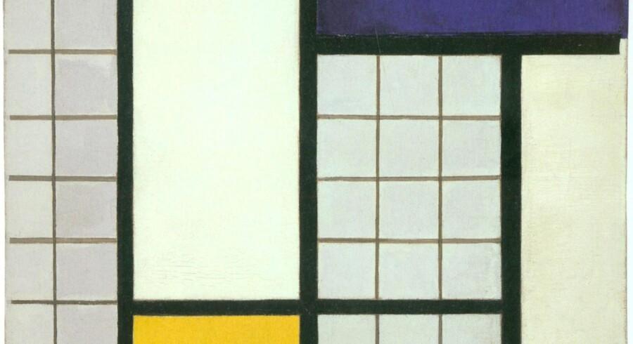 Typisk eksempel på et af Theo van Doesborg – og flere andre kunstneres – billeder fra De Stijl-perioden. Billedet hedder »Komposition i halvtoner« og er fra 1938. Da var De Stijl officielt opløst, men idealerne levede videre og befrugtede siden den moderne kunst helt op til vore dage.
