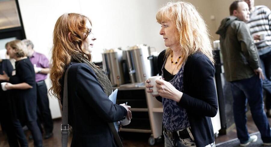 SF's Pernille Frahm (th) og Annika Smith (tv) blev vraget til landsledelsen.