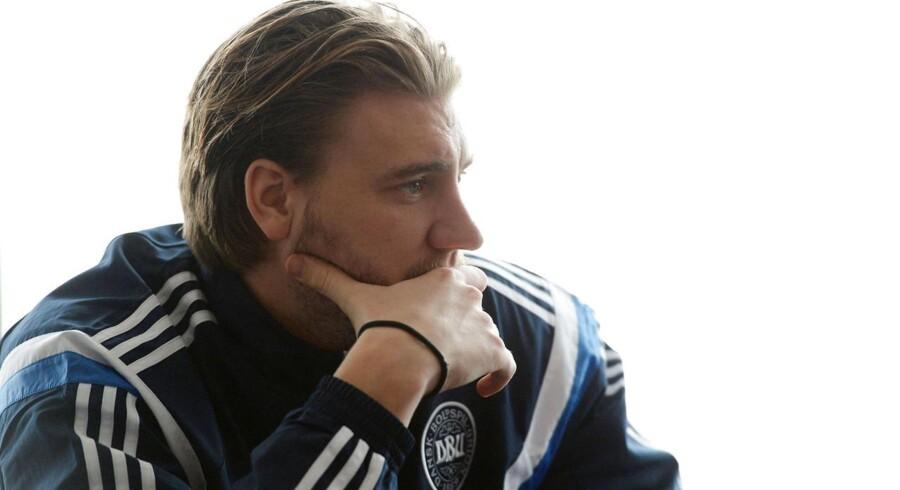 Nicklas Bendtner kan se frem til en bøde og en alvorlig samtale med sin chef i Arsenal. Foto: EPA