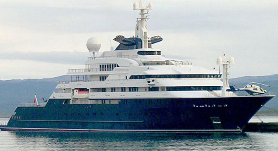 Octopus (herover) er Paul Allens nuværende yacht. Crystal Ball bliver både større og mere luksuriøs. Foto: Scanpix