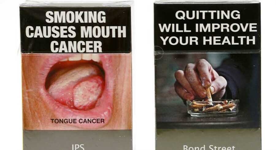 ARKIVFOTO. Kræftens Bekæmpelse vil have Danmark til at lade sig inspirere af Australien, når det kommer til udsmykning af cigaretpakker.