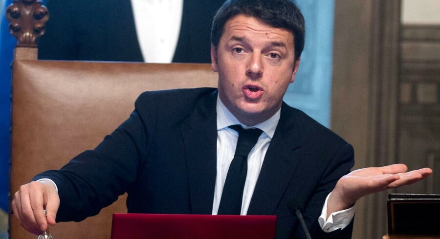 Italiens nye premierminister, Matteo Renzi.