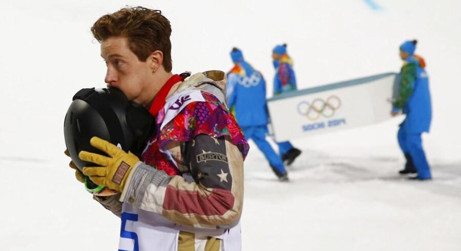 Snowboard-kongen Shaun White, blev stødt af tronen i Sotji. Det blev kun til en fjerdeplads for den sejrsvante amerikaner.