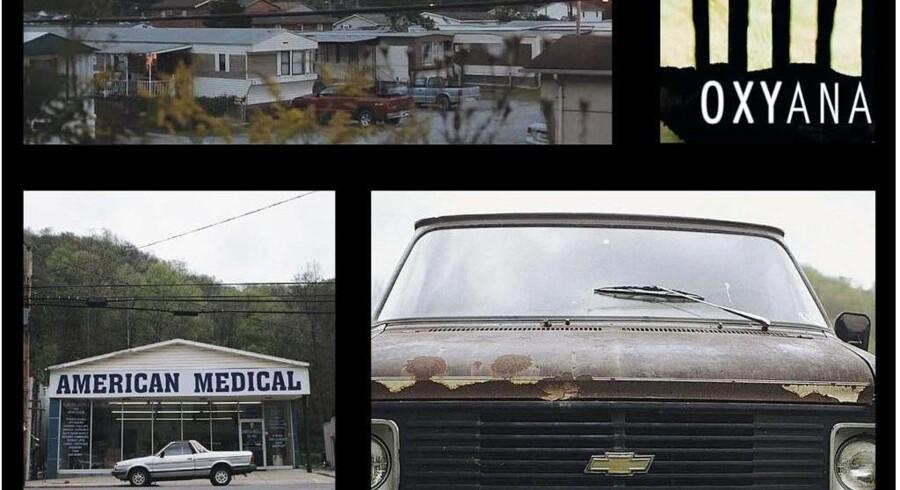 Sølle skæbner og misbrug er hverdag i den lille by Oceana i West Virginia, som man møder på nært hold i den nye amerikanske dokumentarfilm »Oxyana«. Filmen fortæller imidlertid også historien om et USA, hvor narkomisbrug – ikke mindst med afsæt i lægeordineret medicin – vinder frem blandt såvel fattige som rige – såsom som den nyligt afdøde skuespiller Philip Seymour Hoffman. Billeder fra filmen »Oxyana«.