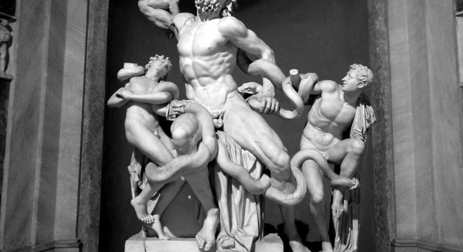 Laocoön er en af antikkens mest berømte skulpturer - men var længe under mistanke for at være af Michelangelo