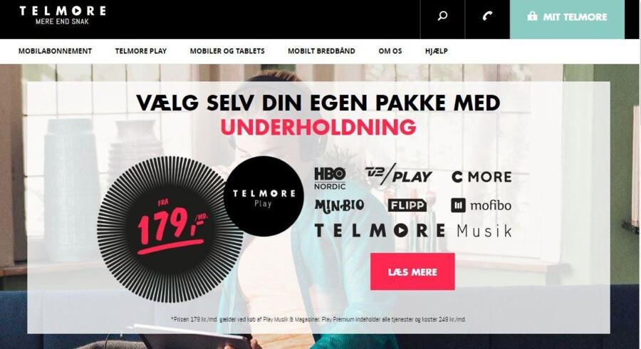 Telmore, som TDC ejer, splitter nu sin underholdningspakke op i mindre bidder for at trække nye kunder til.