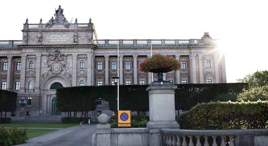Riksdagen i Stockholm.
