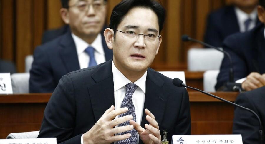 Samsungs reelle topchef, Lee Jae-yong, skal torsdag til forhør i bestikkelsessagen, som involverer den sydkoreanske præsident. Arkivfoto: Jeon Heon-kyun, EPA/Scanpix