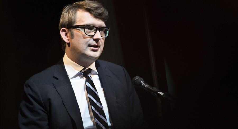 Erhvervs- og vækstminister Troels Lund Poulsen er blandt de danske pinger, der er i USA med 60 virksomheder for at sparke yderligere gang i samhandlen med amerikanerne, der udgør Danmarks tredjestørste eksportmarked. Scanpix/Mathias Løvgreen Bojesen