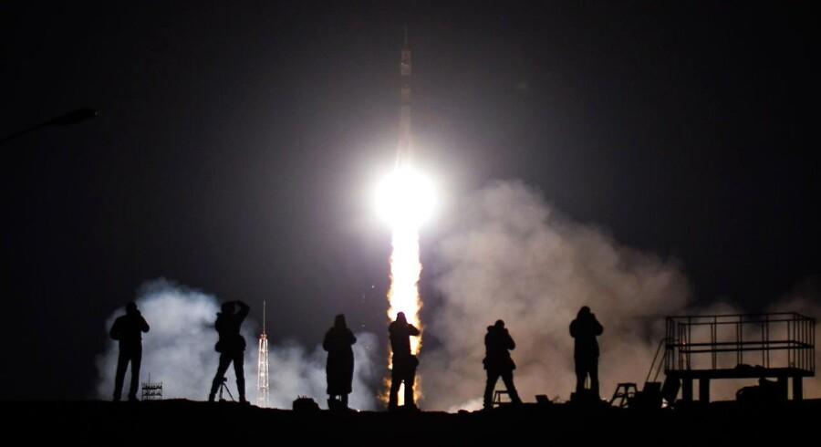 Opsendelsen i en Sojus MS-08 skete fra basen Baikonur.