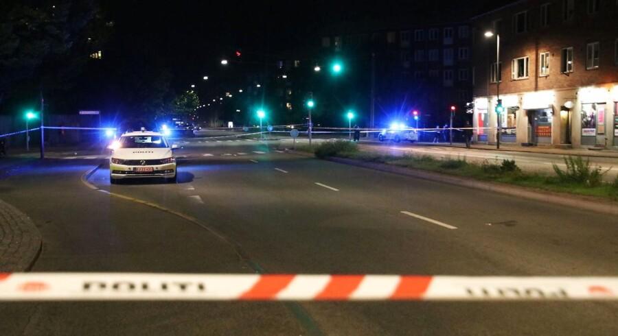 Arkivfoto: Politiet rykkede fredag aften 11. august 2017 ud til et anmeldt skyderi i Københavns Nordvest-kvarter. - Igen lørdag aften har der været skyderi i København. Denne gang på Nørrebro (Foto: Mathias Øgendal/Scanpix 2017)