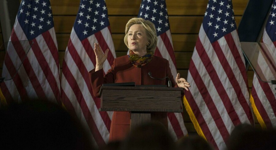 Den demokratiske præsidentkandidat Hillary Clinton. Stephen Maturen/Getty Images/AFP