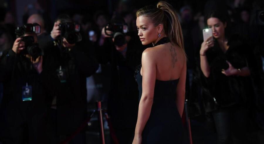 Den britiske sanger og skuespiller Rita Ora til premieren på Fifty Shades Darker.