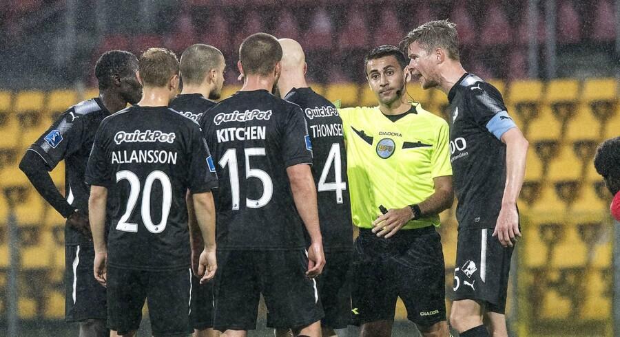 Med 3-1 i Lyngby hentede Randers FC sæsonens tredje sejr og kravlede dermed væk fra Superligaens sidsteplads. (Foto: Anders Kjærbye/Scanpix 2017)