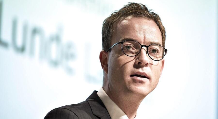 Miljø- og fødevareminister Esben Lunde Larsen. (foto: Henning Bagger / Scanpix 2016)
