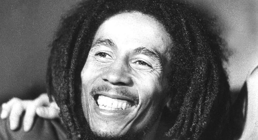 Bob Marley fotograferet i 1976. Reggaelengenden ville være fyldt 72 år i dag, hvis han stadig ar i live.