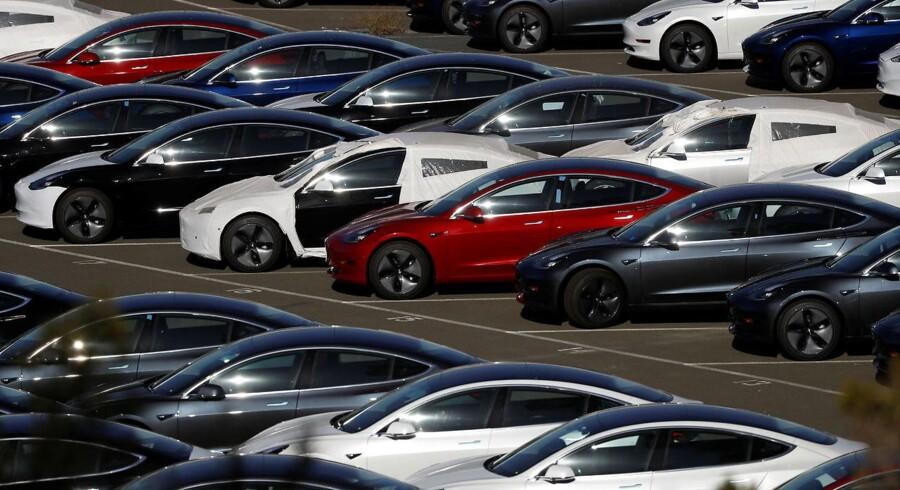 Teslas elbiler af typen Model 3