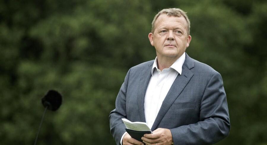 Statsminister Lars Løkke Rasmussen (V) vil ikke tage forslaget om statslån af bordet trods intern kritik i Venstre. (Foto: Betina Garcia/Scanpix 2017)
