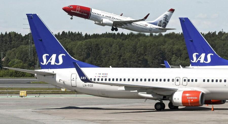 Norwegian flyver fra SAS - i hvert fald på rene passagertal.