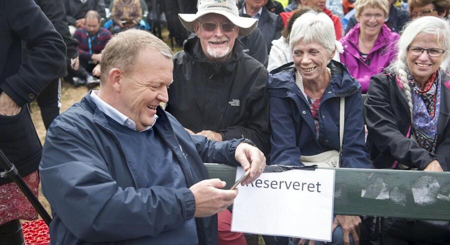 Folkemødet blev åbne af statsminister Lars Løkke Rasmussen.