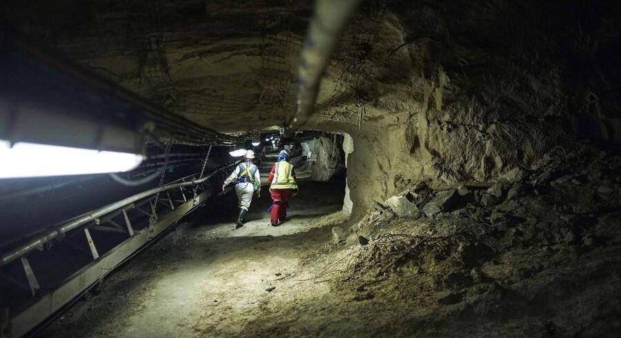 Anglo American minen i Rustenburg, Sydafrika. AFP PHOTO / MUJAHID SAFODIEN