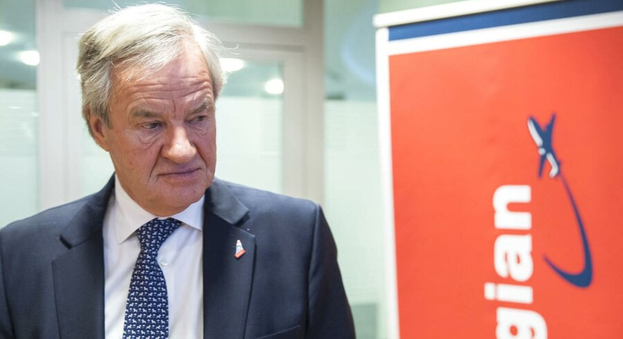 Norwegians koncernchef, Bjørn Kjos, var ikke helt tilfreds med det seneste kvartalsregnskab. Foto: Vidar Ruud/NTB Scanpix