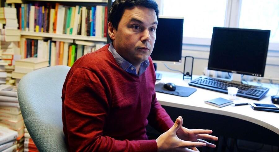 ARKIVFOTO: Den franske økonom Thomas Piketty er en af de tre økonomer, der har analyseret en stribe data så som lønsedler, social støtte og fordeling af indtægter