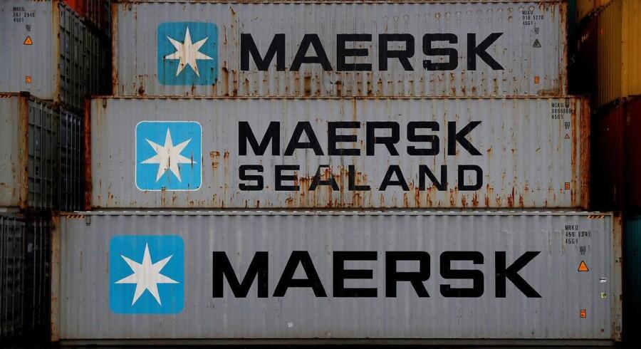 ARKIVFOTO 2017 af Mærsk containere.