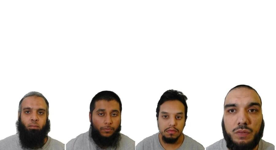 Fire mænd, navngivet »musketeerne« af den britiske presse, er blevet idømt livstidsfængsel for at planlægge terror.