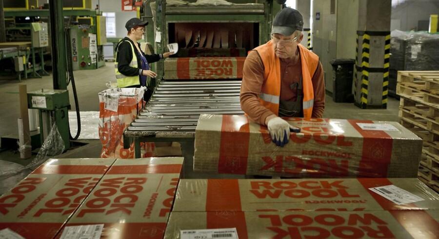 RockWool vokser over hele linjen og ser trenden fortsætte i år. Arkivfoto fra RockWool-fabrik.