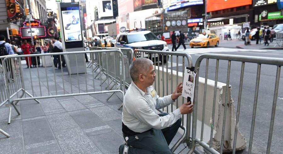 Foto fra ulykken på Times Square.