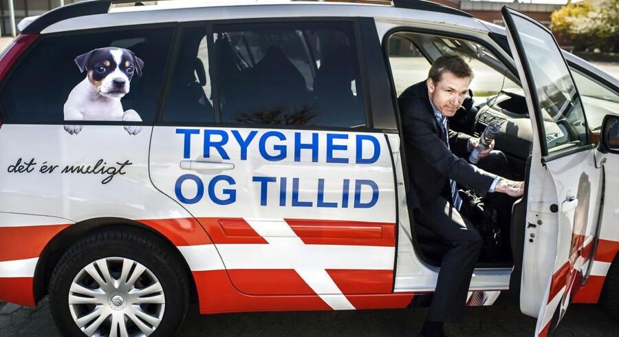 Formanden for Dansk Folkeparti, Kristian Thulesen Dahl, under et besøg på Fyn.