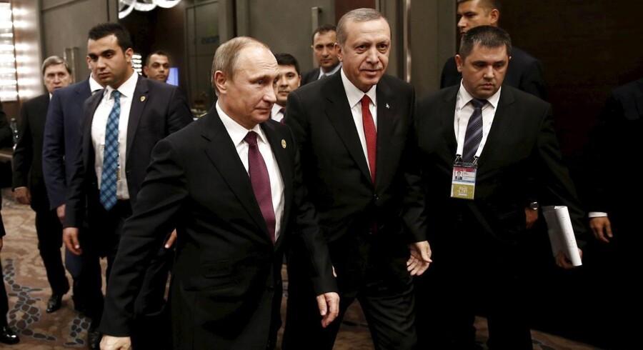Erdogan og Putin.