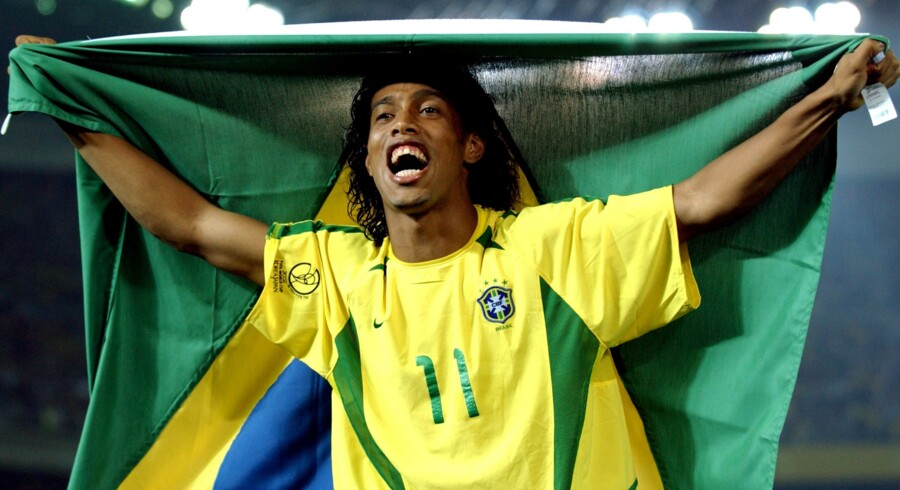 En ung Ronaldinho var i 2002 med til at vinde VM-guld med Brasilien. Scanpix/Darren Walsh/arkiv
