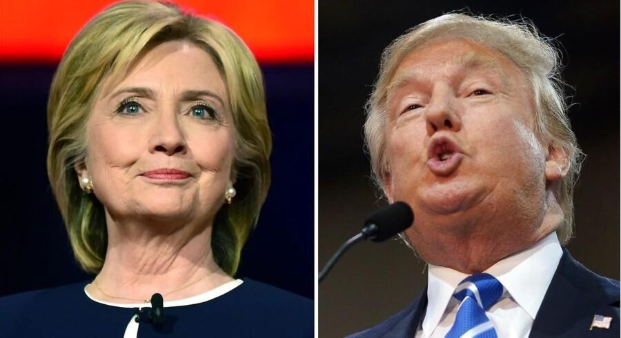 De to sandsynlige kandidater, Donald Trump og Hillary Clinton, står over for gigantiske udfordringer i deres respektive partier