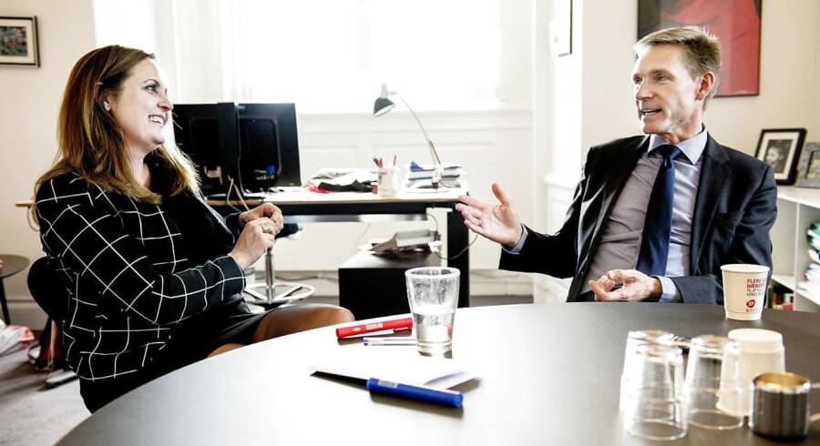 ARKIVFOTO. Pia Olsen Dyhr og Kristian Thulesen Dahl vil sætte en stopper for, at danske chaufførers job forsvinder til udlandet grundet lavere lønninger.