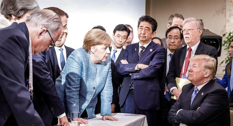 G7-mødet endte med iskold luft mellem Donald Trump og de andre seks statsledere.
