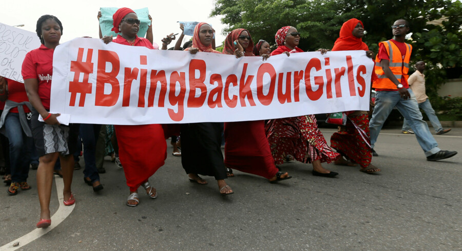 14. april 2017 var det tre år siden, at de mere end 200 piger blev bortført fra byen Chibok af Boko Haram. Reuters/Afolabi Sotunde