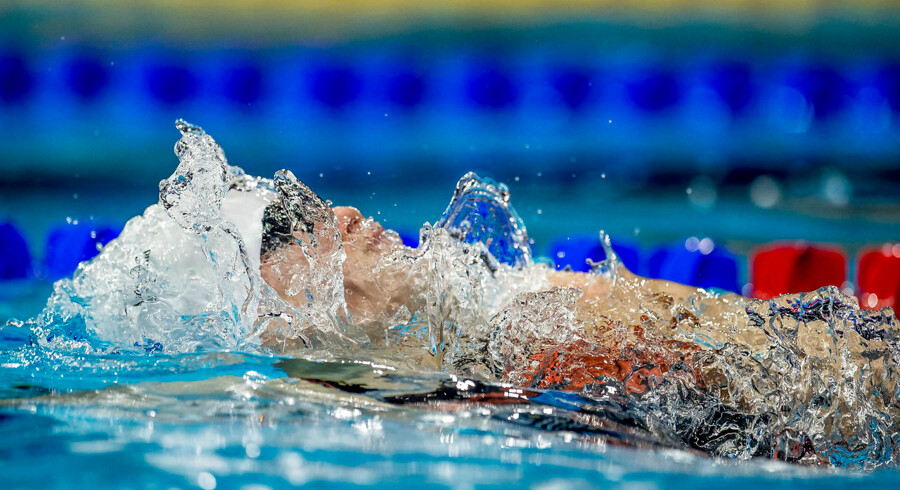 Denmark competes during the 4x50 meter medley final and win silver at the LEN European Short Course Swimming Championships in Royal Arena in Copenhagen, Denmark, Sunday, December 17, 2017.